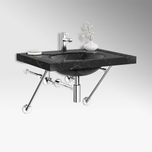 Apex style sink legs in polished chrome