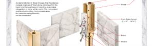 marble sink with metal legs