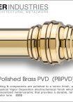 Polished Brass PVD finish
