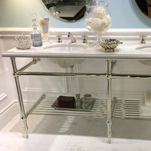 Chrome Console Sink Stand